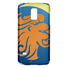 Lion Zodiac Sign Zodiac Moon Star Galaxy S5 Mini by Nexatart