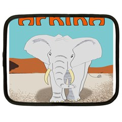 Africa Elephant Animals Animal Netbook Case (xl)