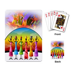 African American Women Playing Card by AlteredStates