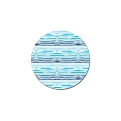 Watercolor Blue Abstract Summer Pattern Golf Ball Marker by TastefulDesigns