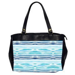 Watercolor Blue Abstract Summer Pattern Office Handbags (2 Sides)  by TastefulDesigns