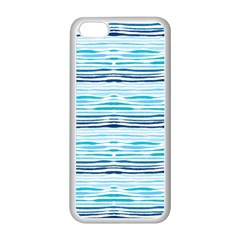 Watercolor Blue Abstract Summer Pattern Apple Iphone 5c Seamless Case (white) by TastefulDesigns