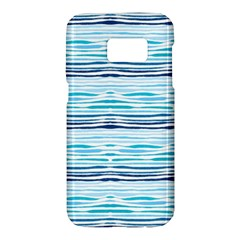Watercolor Blue Abstract Summer Pattern Samsung Galaxy S7 Hardshell Case  by TastefulDesigns
