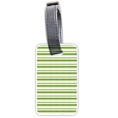 Spring Stripes Luggage Tags (one Side)  by designworld65