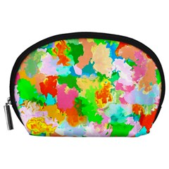 Colorful Summer Splash Accessory Pouches (large)  by designworld65