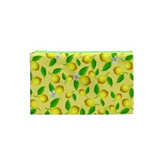 Lemon Pattern Cosmetic Bag (xs) by Valentinaart