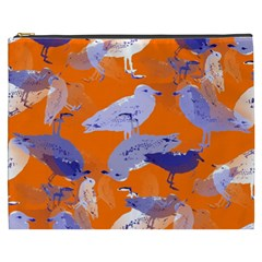 Seagull Gulls Coastal Bird Bird Cosmetic Bag (xxxl)  by Nexatart