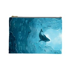 Shark Cosmetic Bag (large)  by Valentinaart