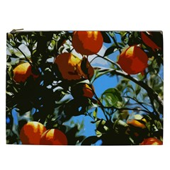 Orange Tree Cosmetic Bag (xxl)  by Valentinaart