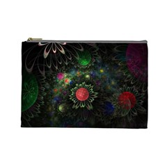 Shapes Circles Flowers  Cosmetic Bag (large)  by amphoto