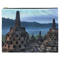 Borobudur Temple  Morning Serenade Cosmetic Bag (xxxl)  by Nexatart