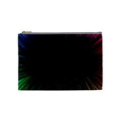 Colorful Light Ray Border Animation Loop Rainbow Motion Background Space Cosmetic Bag (medium)