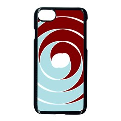 Double Spiral Thick Lines Blue Red Apple Iphone 7 Seamless Case (black) by Mariart
