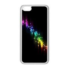 Illustration Light Space Rainbow Apple Iphone 5c Seamless Case (white) by Mariart