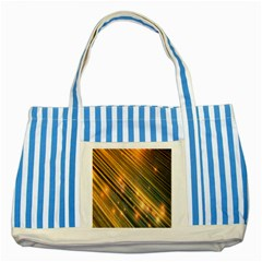 Golden Blue Lines Sparkling Wild Animation Background Space Striped Blue Tote Bag