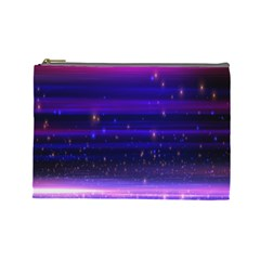Massive Flare Lines Horizon Glow Particles Animation Background Space Cosmetic Bag (large)  by Mariart