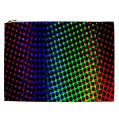 Digitally Created Halftone Dots Abstract Background Design Cosmetic Bag (xxl)  by Nexatart