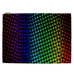 Digitally Created Halftone Dots Abstract Background Design Cosmetic Bag (XXL)  Front