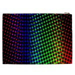 Digitally Created Halftone Dots Abstract Background Design Cosmetic Bag (XXL)  Back