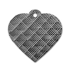 Grid Wire Mesh Stainless Rods Dog Tag Heart (two Sides)