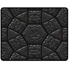 Tile Emboss Luxury Artwork Depth Double Sided Fleece Blanket (medium)