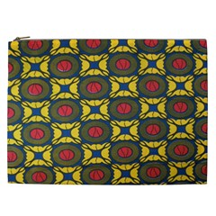 African Textiles Patterns Cosmetic Bag (xxl)  by Mariart
