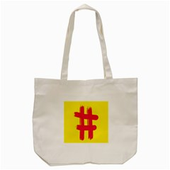 Fun Ain t Gone Fence Sign Red Yellow Flag Tote Bag (cream)