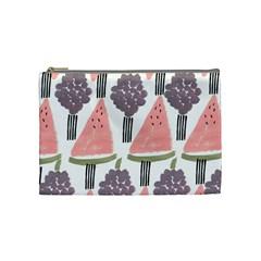 Grapes Watermelon Fruit Patterns Bouffants Broken Hearts Cosmetic Bag (medium)