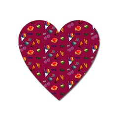 Aloha   Summer Fun 1c Heart Magnet by MoreColorsinLife
