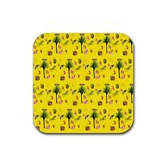 Aloha   Summer Fun 2b Rubber Coaster (square)  by MoreColorsinLife