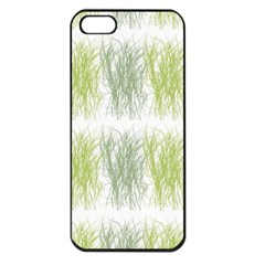 Weeds Grass Green Yellow Leaf Apple Iphone 5 Seamless Case (black) by Mariart