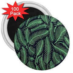 Coconut Leaves Summer Green 3  Magnets (100 Pack) by Mariart
