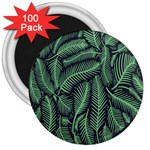 Coconut Leaves Summer Green 3  Magnets (100 pack) Front