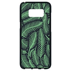 Coconut Leaves Summer Green Samsung Galaxy S8 Black Seamless Case by Mariart
