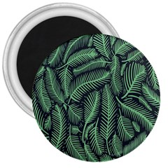 Coconut Leaves Summer Green 3  Magnets by Mariart