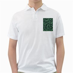 Coconut Leaves Summer Green Golf Shirts by Mariart