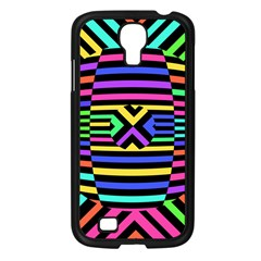 Optical Illusion Line Wave Chevron Rainbow Colorfull Samsung Galaxy S4 I9500/ I9505 Case (black) by Mariart
