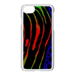Frog Spectrum Polka Line Wave Rainbow Apple Iphone 7 Seamless Case (white) by Mariart