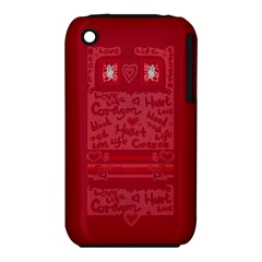 Heart Design Iphone 3s/3gs by JuliaWoodmanDesign