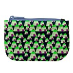Edgy Cartoon Small Houses Pink Green Purple Multi Large Coin Purse