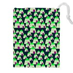 Edgy Cartoon Small Houses Pink Green Purple Multi Drawstring Pouch (XXL)