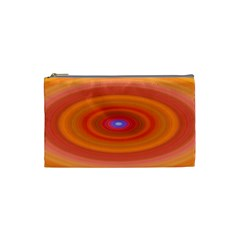 Ellipse Background Orange Oval Cosmetic Bag (small)  by Nexatart