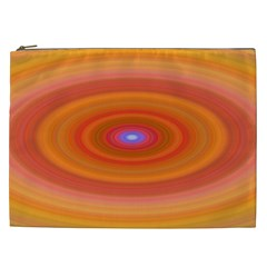 Ellipse Background Orange Oval Cosmetic Bag (xxl)