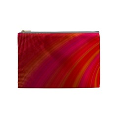 Abstract Red Background Fractal Cosmetic Bag (medium)  by Nexatart