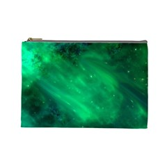 Green Space All Universe Cosmos Galaxy Cosmetic Bag (large)  by Nexatart