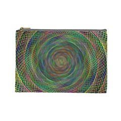 Spiral Spin Background Artwork Cosmetic Bag (large)  by Nexatart