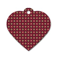 Kaleidoscope Seamless Pattern Dog Tag Heart (two Sides)