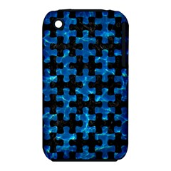 Puzzle1 Black Marble & Deep Blue Water Iphone 3s/3gs by trendistuff