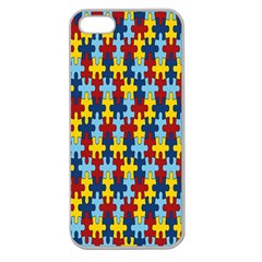 Fuzzle Red Blue Yellow Colorful Apple Seamless Iphone 5 Case (clear) by Mariart