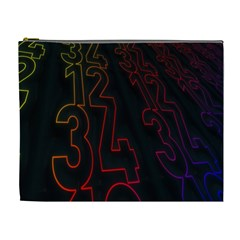Neon Number Cosmetic Bag (xl) by Mariart